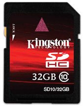 Kingston Class 10 SDHC minneskort 32 GB